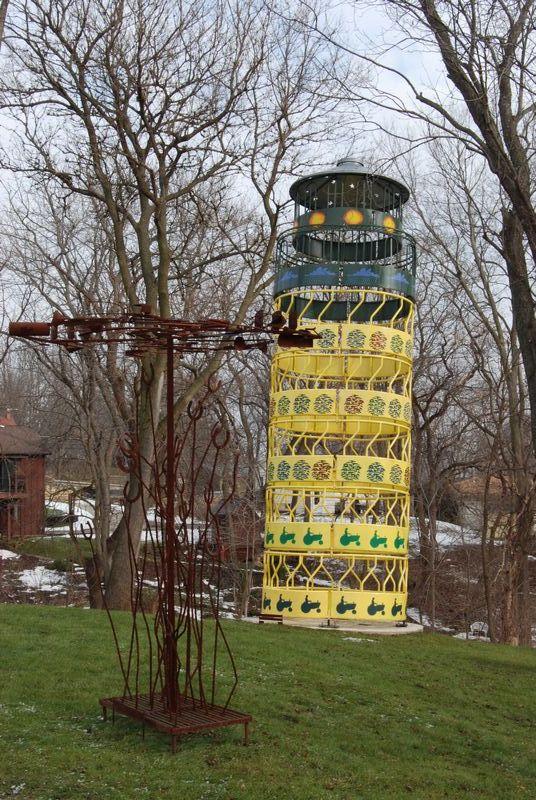 West Street Sculpture Garden; Galena, IL