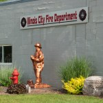 In front of the Illinois City Fire Dept