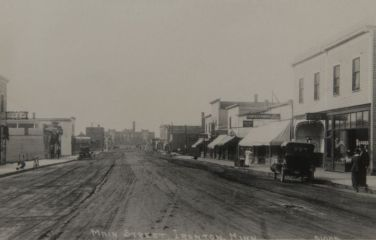Ironton, Minnesota in the early days; courtesy of the Cuyuna Iron Range Heritage Network