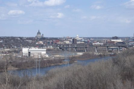 St. Paul, MN and the Mississippi River