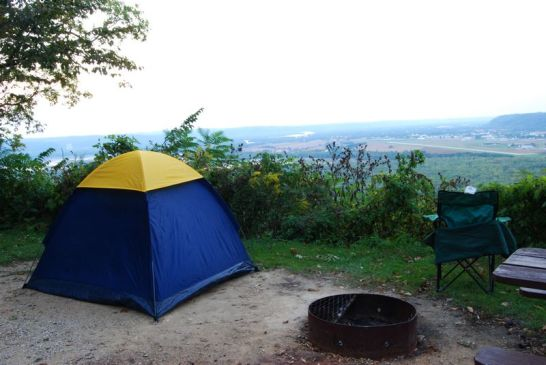 Camping on the edge at Wyalusing State Park