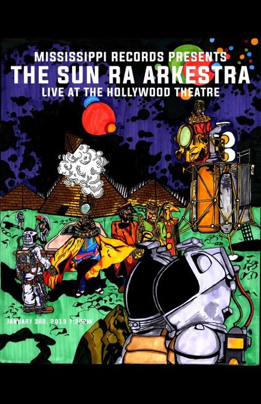 The Sun Ra Arkestra Live 1/3/19 Poster Version 2