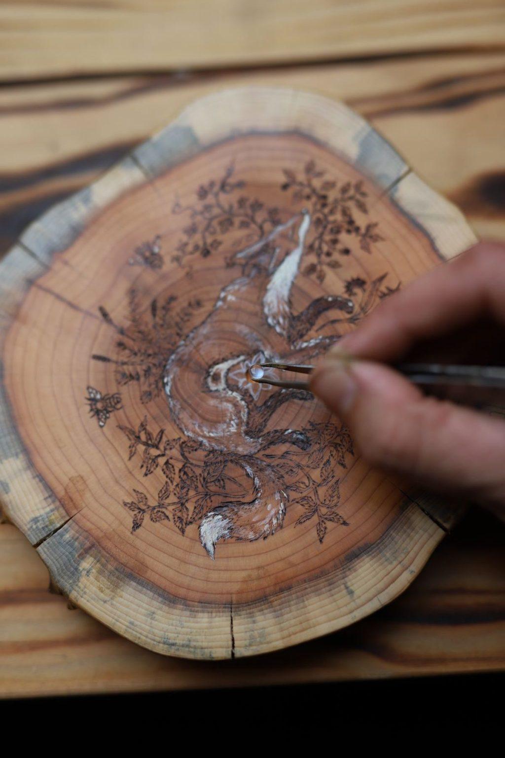 Atelier écologique, bois, lettre aux ours, missive to bears, artisanat francais, normandie, savoirs faire (1)