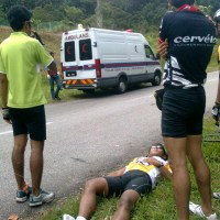 Cyclist Crashes at Hulu Langat