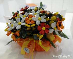 Blumenstrauß aus Bonbons