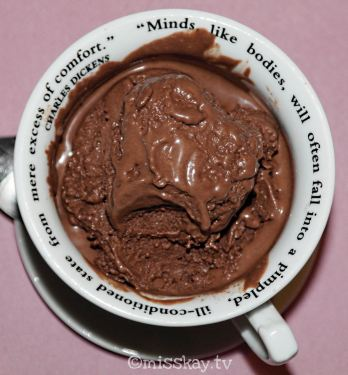 Gefrorener Schokoladenpudding (Zuckerfrei/Paleo)