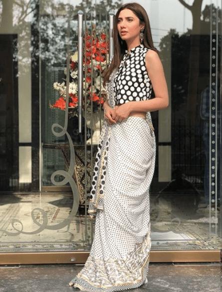 Mhirah Khan in Block Print Sari