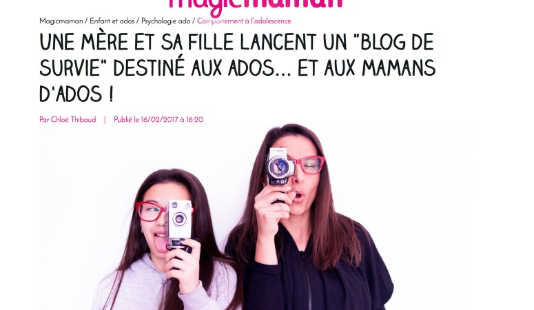 Magic maman ! L'interview de miss k et moi dans la presse