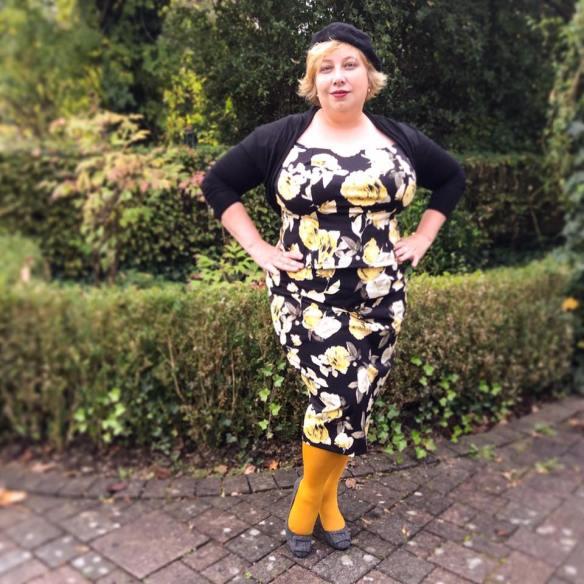 Miss Kittenheel vintage plus size style autumn rose