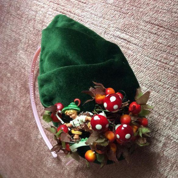 Miss Kittenheel vintage plussize style forest friends hat
