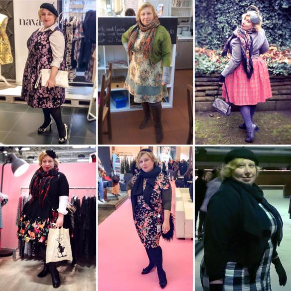 Miss Kittenheel vintage plussize style January 2016 outfits