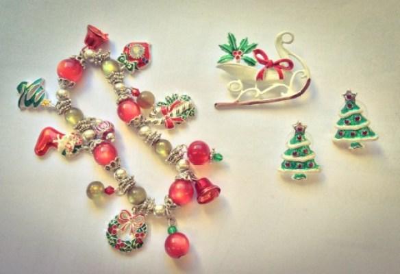 misskittenheel vintage plussize christmas bling jewellery jewellry xmas