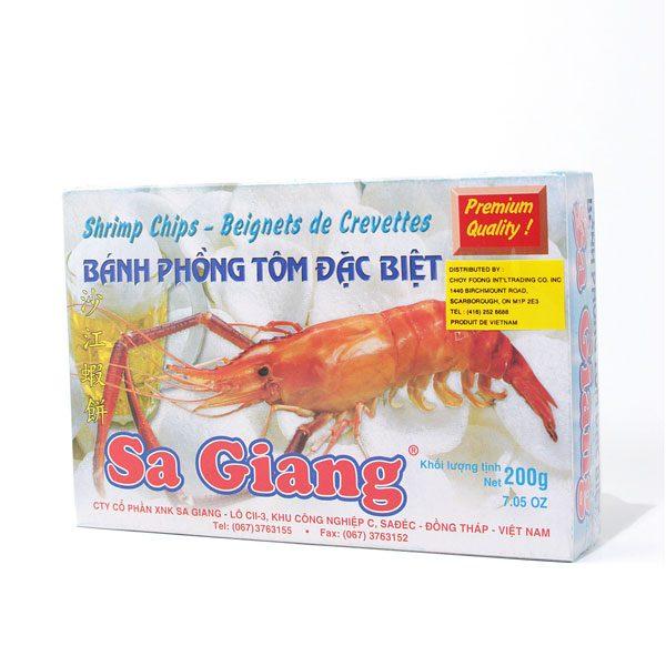 croustilles de crevettes