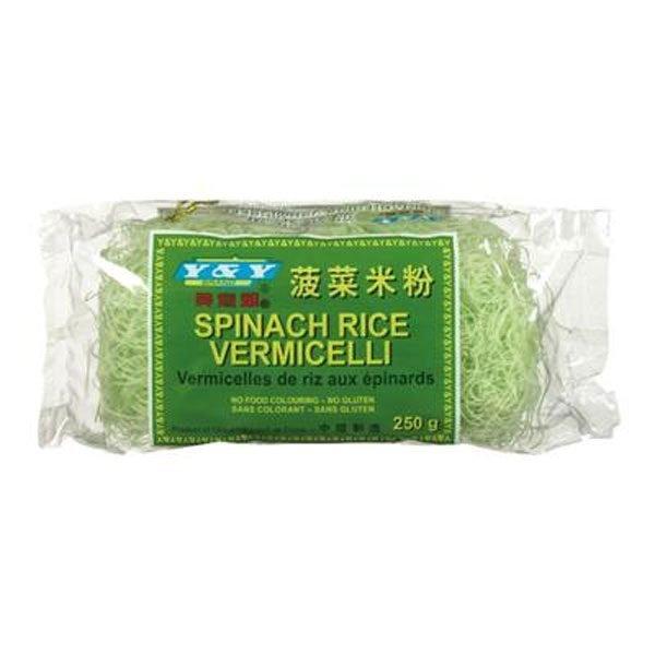 Vermicelle de riz aux épinards