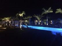 Zen Oasis pool at night