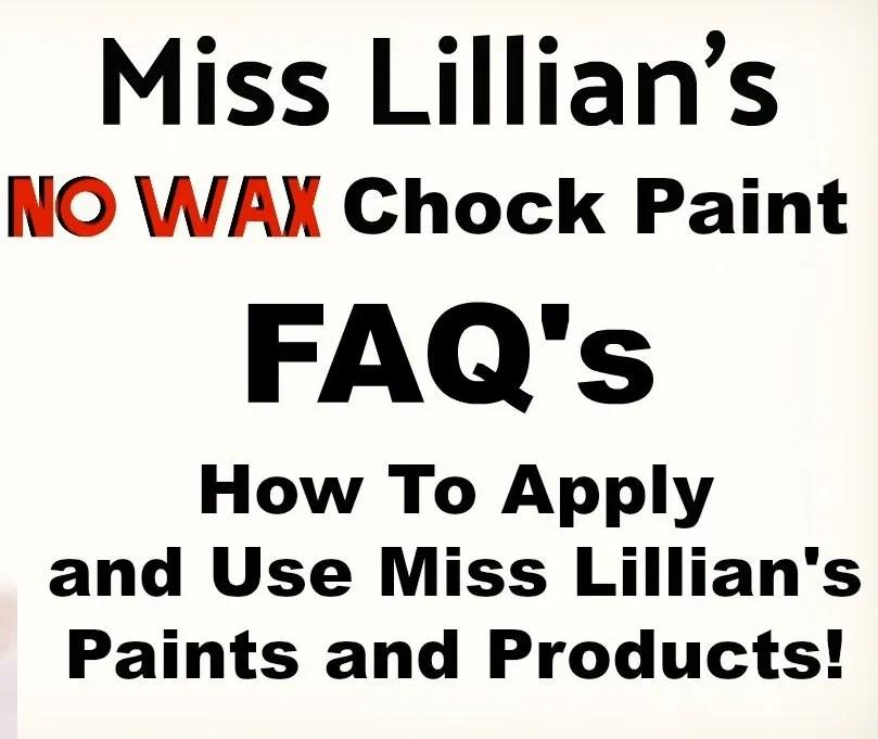 Miss Lillian's FAQ Cover
