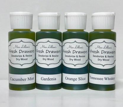 Fresh Drawers Sample Set - CucMintGardeniaOrangeSliceTNWhiskey