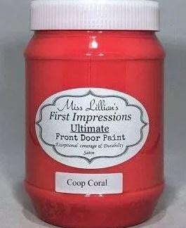 Front Door Paint - Coop Coral