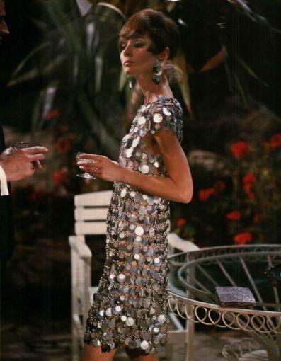 Audrey Hepburn wearing Pacco Rabanne