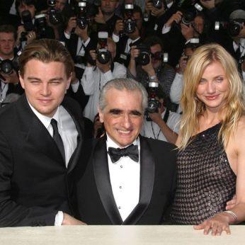 Leonardo Dicaprio, Martin Scorsese and Cameron Diaz 2002