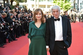 """Dutch director Paul Verhoeven and French actress Isabelle Huppertor for the movie """"Elle"""""""