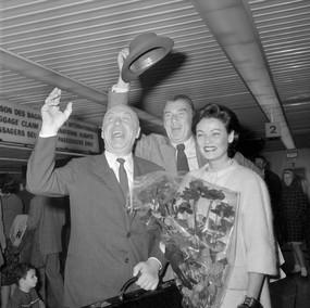 Gene Tierney and Otto Preminger