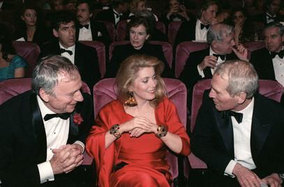 Catherine Deneuve, Paul Newman and Yves Montand