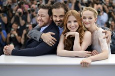 """Jessica Chastain, James McAvoy, Jess Weixler and Ned Benson for the movie """"The Disappearance of Eleanor Rigby"""""""