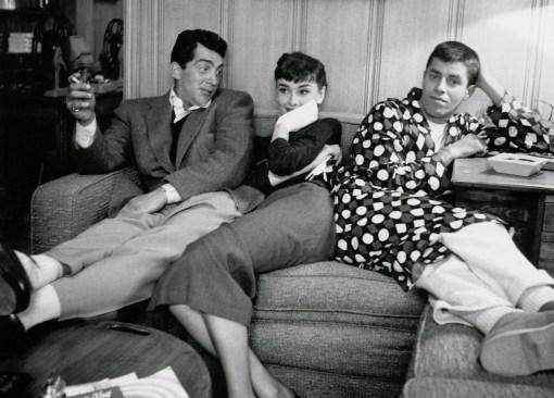 Dean Martin, Audrey Hepburn and Jerry Lewis