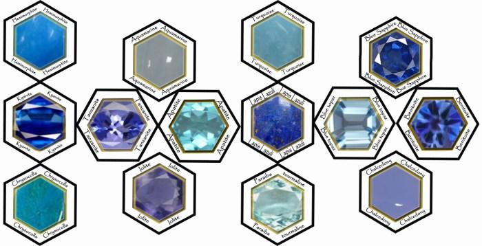 mosaiques pierres bleues