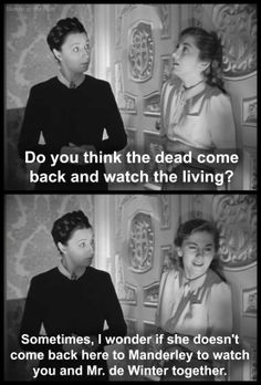 Judith Anderson and Joan Fontaine