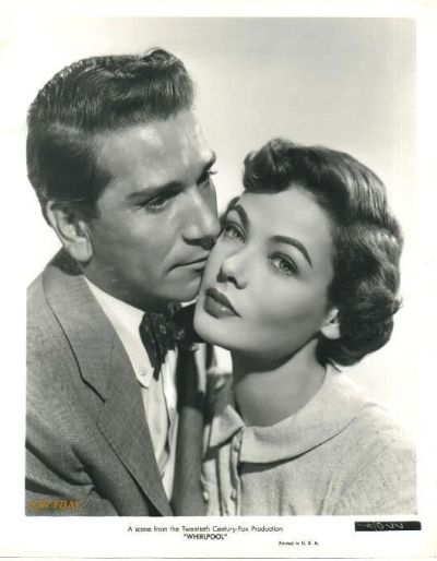 Gene Tierney and Richard Comte