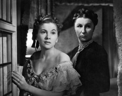 Joan Fontaine and Judith Anderson (as Mrs. Danvers)