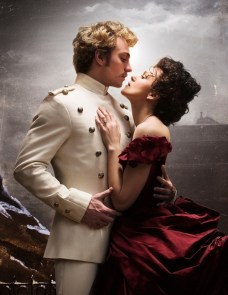 Aaron Taylor-Johnson as Vronsky and Keira Knightley as Anna Karenina