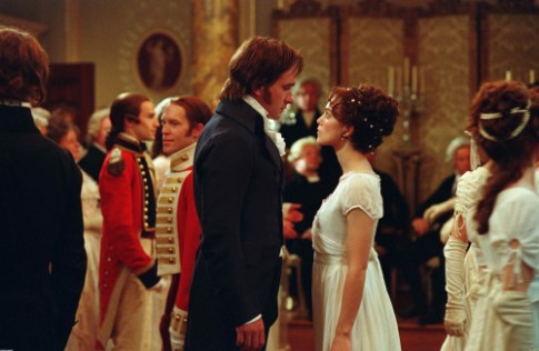 Matthew Macfadyen as Mr. Darcy and Keira Knightley as Elizabeth Bennet
