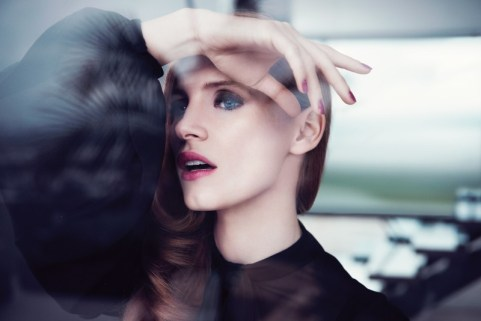 Jessica Chastain for Saint Laurent