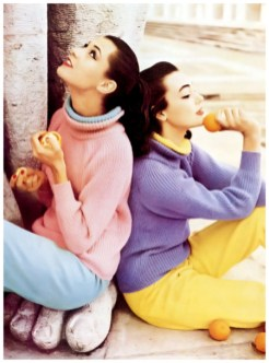 barbara-mullen-l-and-ivy-nicholson-r-wearing-pastel-knit-turtlenecks-with-contrasting-tapered-slacks-all-by-jaeger-photo-by-henry-clarke-vogue-july-1956