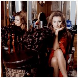 Actress Sophia Lauren in 1972