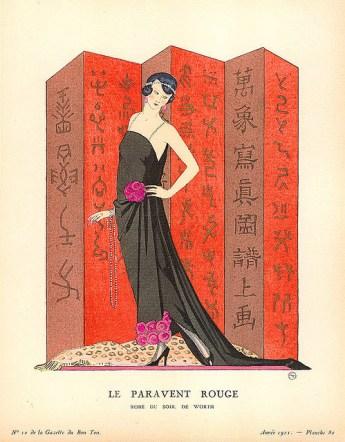 Le paravent rouge, Gazette du Bon Ton 1921