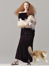 Karen Elson by Steven Meisel for Vogue August 2008