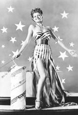 Rita Hayworth in a 4th july photo