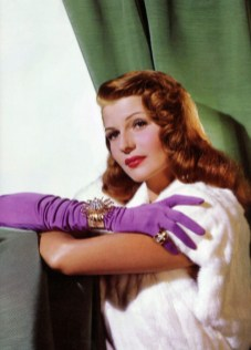 Rita Hayworth for A max factor ad in 1946