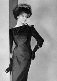 black-satin-dinner-dress-with-an-assymetrical-neckline-by-jean-patou-1958-photo-by-phillipe-pottier