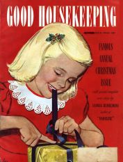 girl-wrapping-present-good-housekeeping-magazine-december-1949-alex-ross