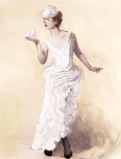 whipped-cream-dress-sketch-oil-on-paper-will-cotton-based-on-balenciaga-by-nicolas-ghesquiere