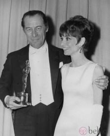 Rex Harisson and Audrey Hepburn