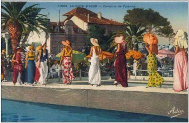 1930's - Gilrs au Palm-Beach - Pyjamas de Plage