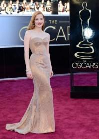 Jessica Chastain wearing Alexander McQueen in 2013