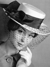 Albouy hat and voilette 1959