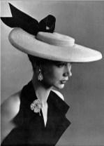 Sophie Malgat wearing a Legroux hat 1952